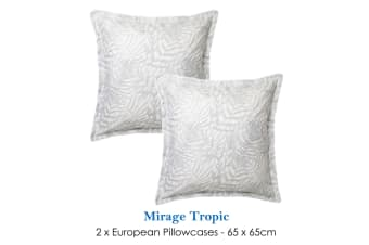 Pair of Mirage Tropic European Pillowcases by Logan & Mason