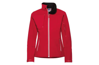 Russell Women/Ladies Bionic Softshell Jacket (Classic Red) (4XL)