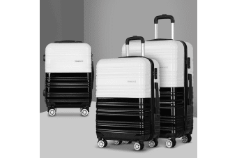 3pc Carry on Luggage Sets Suitcase Set TSA Hard Case Lightweight