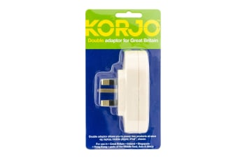 Korjo Travel Double Adapter (UK)