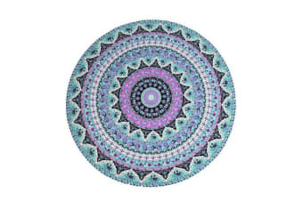 TODO Luxury Edition Chiffon Digital Print Beach Throw Yoga Towel Mat Purple