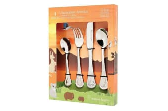 Stanley Rogers Children's Cutlery 4 Piece Set - AUSTRALIAN ANIMALS Gift Box