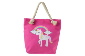 Little Rider Childrens/Kids Unicorn Tote Bag (Pink)