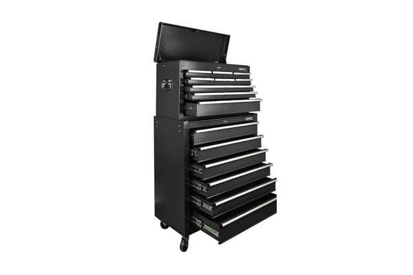 Giantz 15 Drawers Mechanic Toolbox Storage Chest Cabinet Garage Trolley Tool Box Black