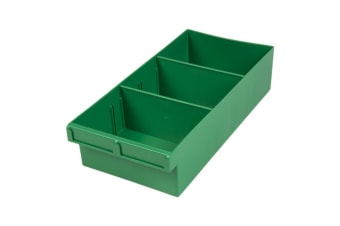 400Mm Large Spare Parts Tray Green Draw With Dividers