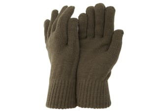 CLEARANCE - Mens Thermal Knitted Winter Gloves (Bottle Green) (One Size)
