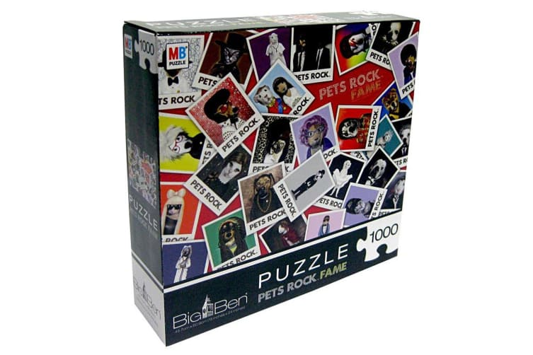 1000pc MB Puzzle Pet Rock Fame 60.9cm Jigsaw Puzzle Educational Toy f/ Teen 15y+