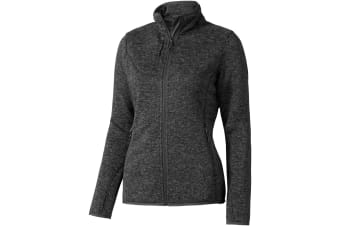 Elevate Womens/Ladies Tremblant Knit Jacket (Heather Smoke) (XL)
