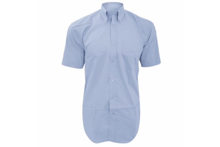 Kustom Kit Mens Short Sleeve Corporate Oxford Shirt (Light Blue) (21inch)