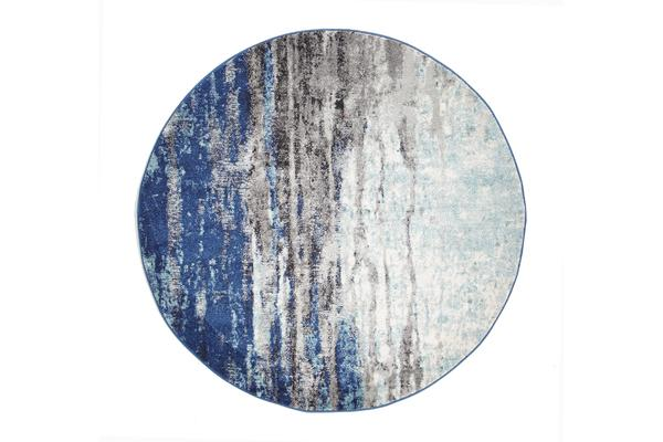 Transpose Blue Transitional Rug 240x240cm