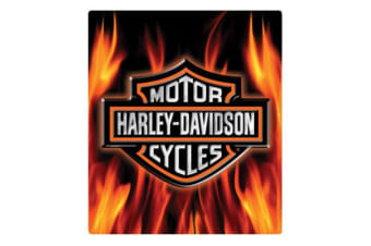 Harley Davidson Die Cut Embossed Tin Sign - Flame Logo