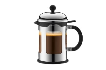 Bodum French Press Stainless Steel Coffee Maker - 4 Cup, 0.5 L, 17 oz (11171-16)