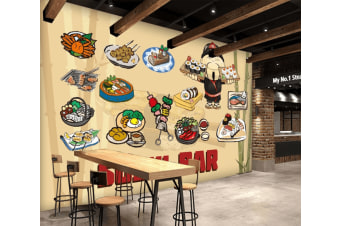 3D Various Delicious Sushi 959 Woven paper (need glue), XXL 312cm x 219cm (WxH)(123''x87'')