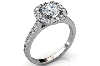 Engagement Ring Embellished with Swarovski crystals  Size US 9