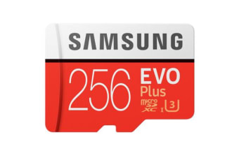 Samsung EVO PLUS 256GB Micro SDXC with Adapter up to 100MB/s Read