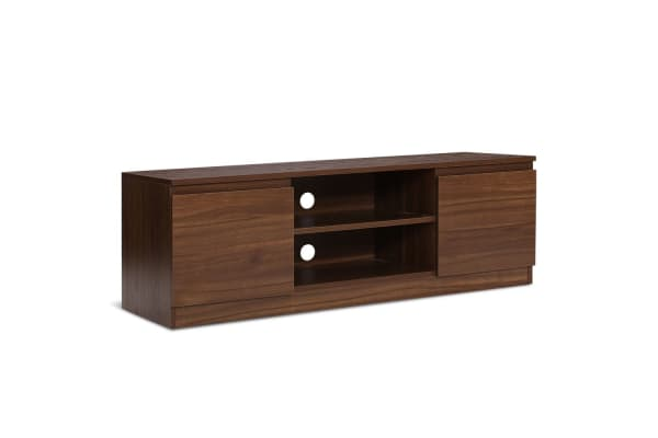TV Stand Entertainment Unit with Storage (Walnut)