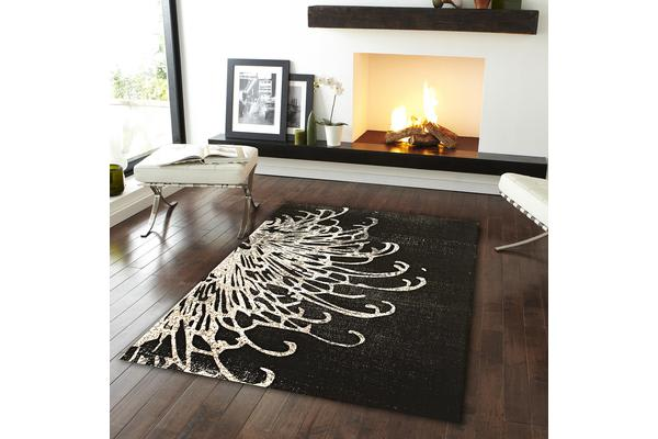 Splash Design Rug Charcoal 230x160cm