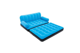 Bestway Inflatable Multi-Max Double Air Bed Mattress Couch Sofa with AC Pump Blue