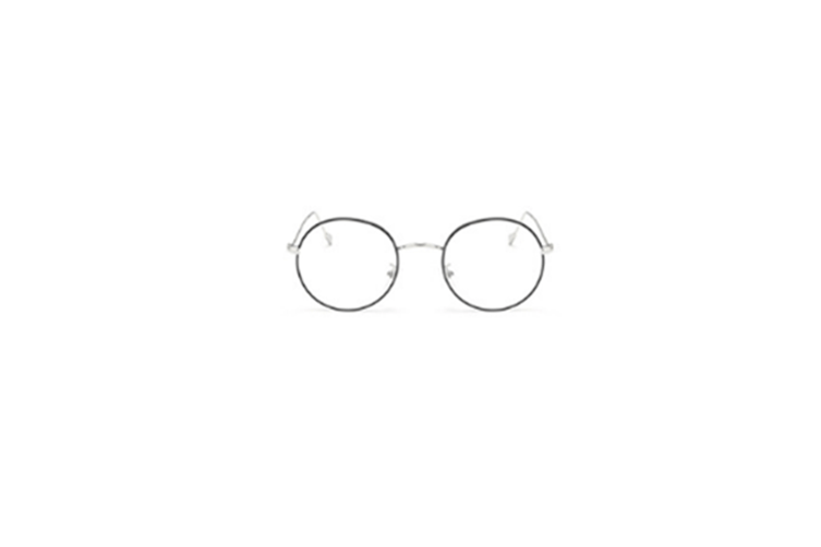 Classic Round Shape Metal Frame Nearsighted Myopia Glasses - 5 Silver 100 Degrees Myopia