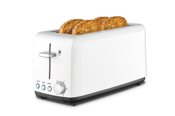 Kambrook Perfect Fit Wide Slot 4 Slice Toaster - White (KTA140WHT)