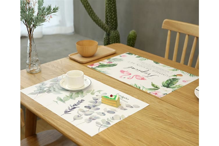Plant Printed Table Cushion Household Thermal Insulation Tablemat Pvc - 5 30*45Cm