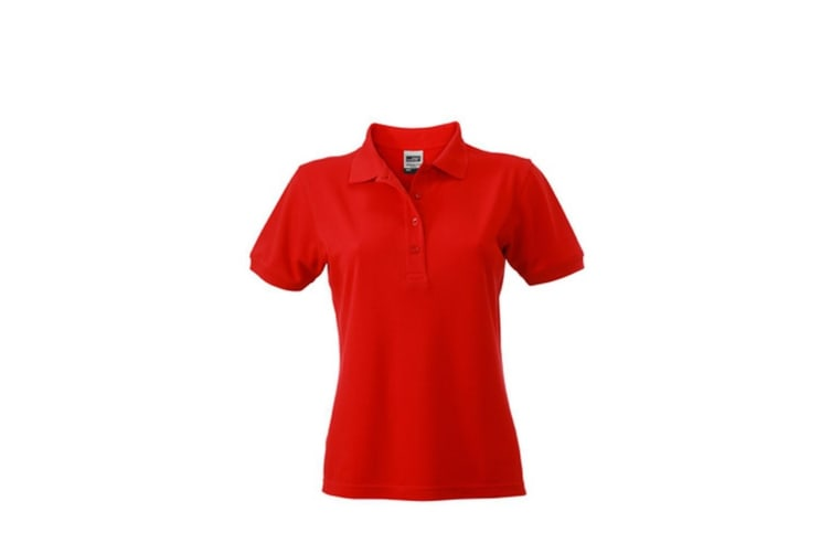 James and Nicholson Womens/Ladies Workwear Polo (Red) (S)