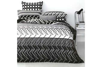 Cotton Rich Soho Charcoal Quilt Cover Set by Retro Home