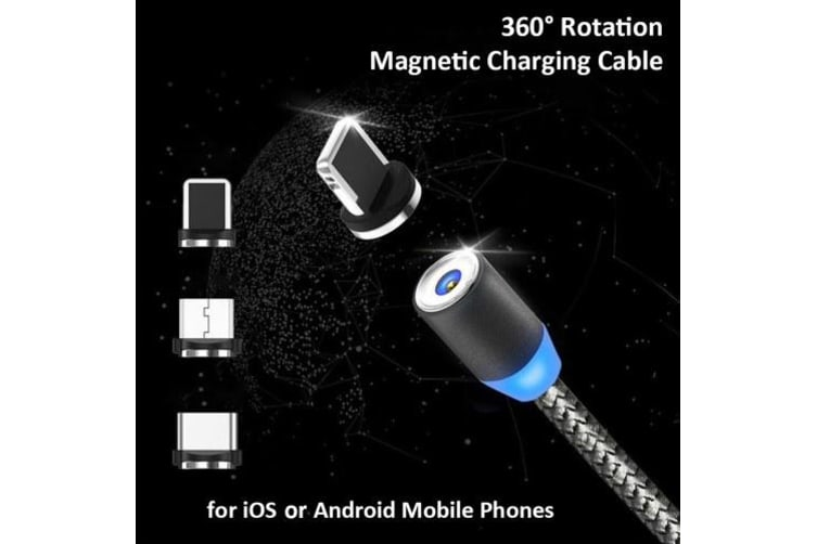 Magnetic Charging Port Adapter Micro USB Converter Lightning Type-C For Samsung Xiaomi Huawei Android Mobile Phones -2m