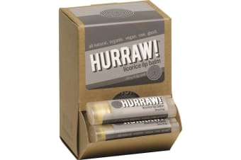 Hurraw! Lip Balm Licorice 4.3g x 24 Display