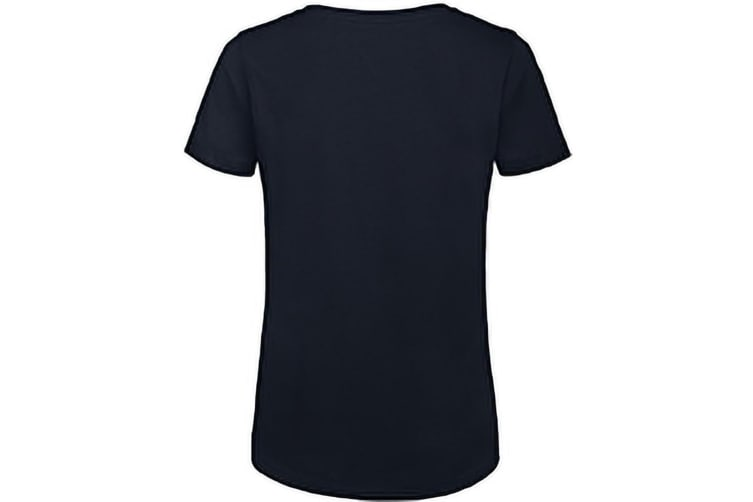 B&C Womens/Ladies Favourite Organic Cotton Crew T-Shirt (Navy Blue) (S)