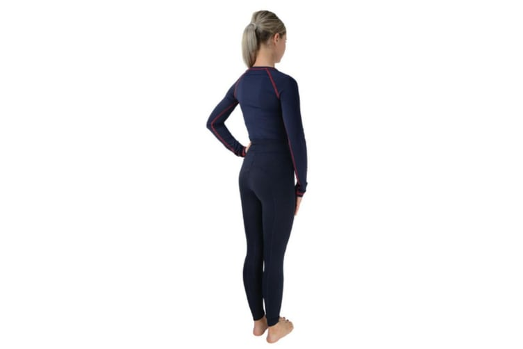 Hy Womens/Ladies Signature Riding Skin Bottoms (Navy/Red) (XL)