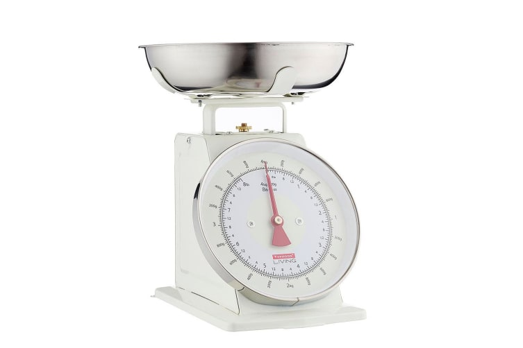 Typhoon Living 4kg Kitchen Scale Food Weight Measure w Stainless Steel Bowl CRM