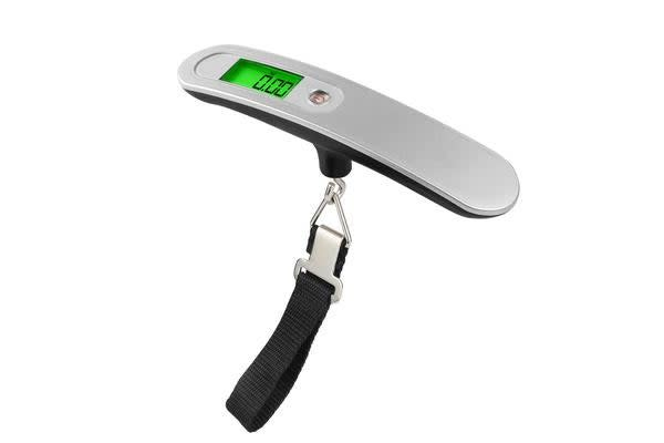50Kg Portable Luggage Scale Lcd Display 10G Graduation Clip Belt Baggage Travel Bag