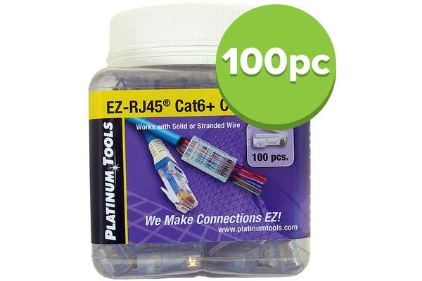 Platinum Tools Ez-Rj45 Cat6 Connector 100Pk