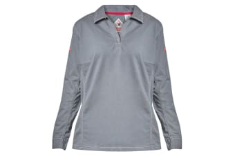 Hard Yakka Women's Bulwark iQ Flame Resistant Long Sleeve Polo (Charcoal, Size S)