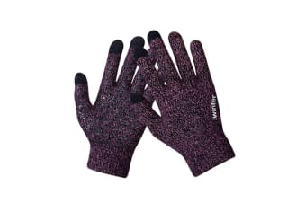 Winter Touch Screen Thermal Knit Gloves Men Women For Smart Phone Rose Red