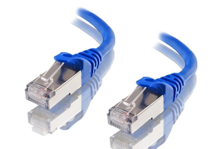 Astrotek CAT6A Shielded Ethernet Cable 25cm/0.25m Blue Color 10GbE RJ45 Network