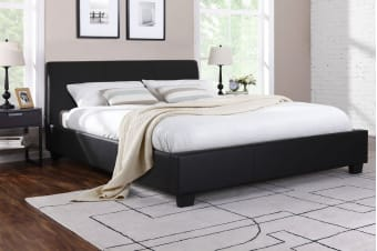 Shangri-La Bed Frame - Grandioso Collection (Black, Queen)