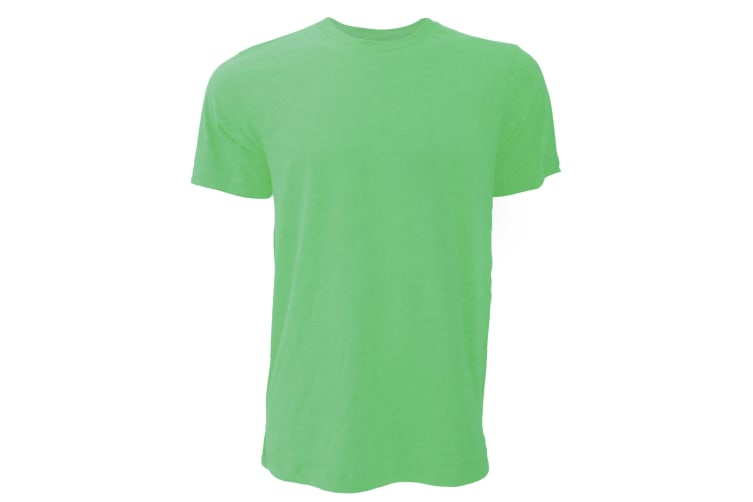 Canvas Unisex Jersey Crew Neck T-Shirt / Mens Short Sleeve T-Shirt (Heather Green) (XL)