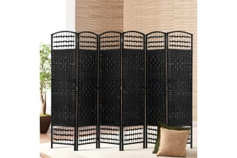 Artiss 6 Panel Room Divider Screen Privacy Dividers Rattan Timber Woven Stand