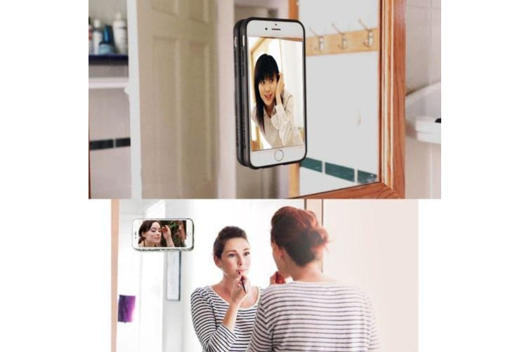 For iPhone 8 PLUS 7 PLUS Case Durable Stylish Stick-on Protective Cover White