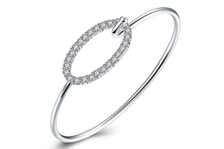 Irrisistable Bangle-White Gold/Clear