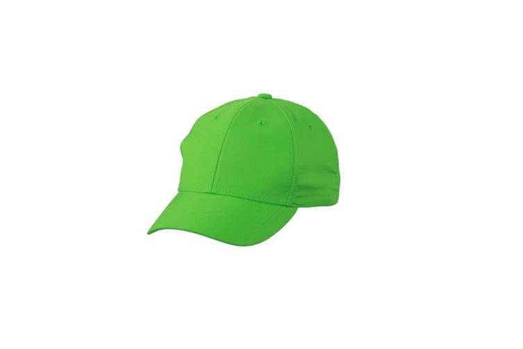 Myrtle Beach Adults Unisex 6 Panel Polyester Peach Cap (Green) (One Size)