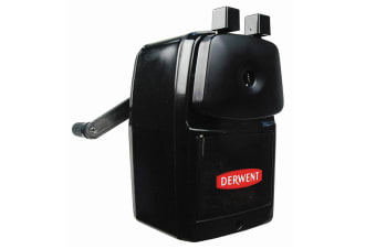 Derwent Super Point Manual School/Office Desk Helical 8mm Pencil Sharpener Black