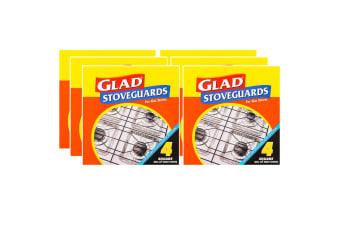 24PK Glad Stoveguards Spill Aluminium Foil Guard Cover Protection for Gas Stoves