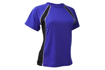 Finden & Hales Womens/Ladies Coolplus Jersey Team Sports T-Shirt (Royal/Navy/White) (M)