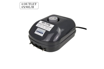 Aquarium Air Pump 4 Outlet 4x90L/H 13W