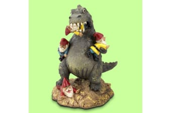 T-Rex Garden Gnome Massacre | T-Rex is Eating All The Gnomes!