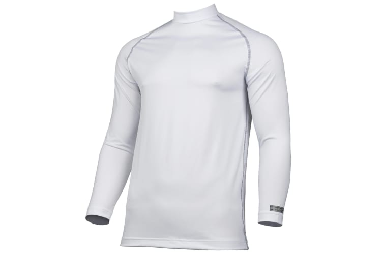 Rhino Mens Thermal Underwear Long Sleeve Base Layer Vest Top (White) (L/XL)