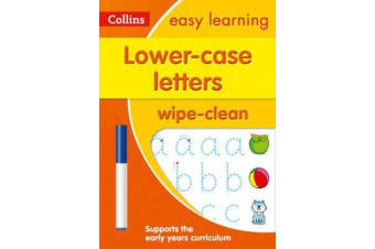 Lower Case Letters Age 3-5 Wipe Clean Activity Book - Ideal for Home Learning